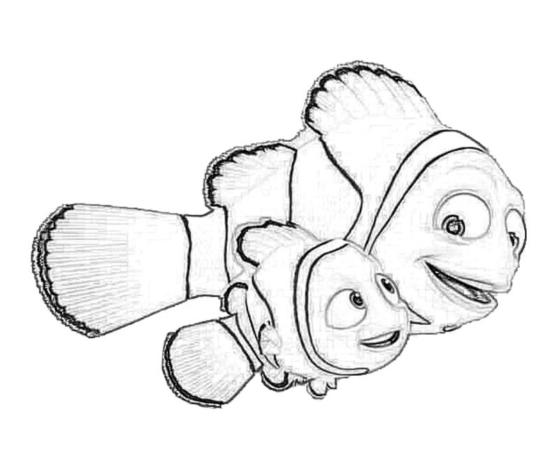 Finding Nemo Marlin Coloring Pages Coloring Pages