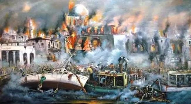 Όταν η Σμύρνη καίγονταν, ο Εβραίος  Κεμάλ έτρωγε σε μπαλκόνι σε άλλη γειτονιά και το απολάμβανε.