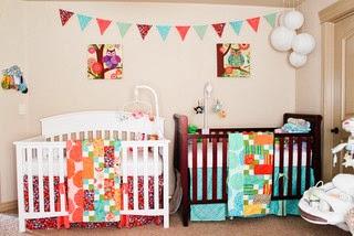 Dormitorio para dos beb s dormitorios colores y estilos for Decoracion de cuarto para ninas gemelas