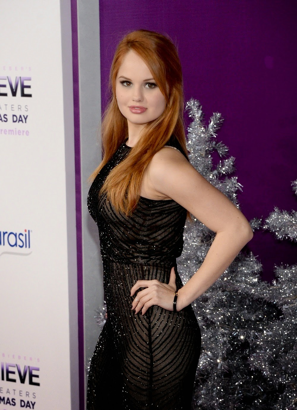 debby ryan show off booty at justin bieber u2019s believe