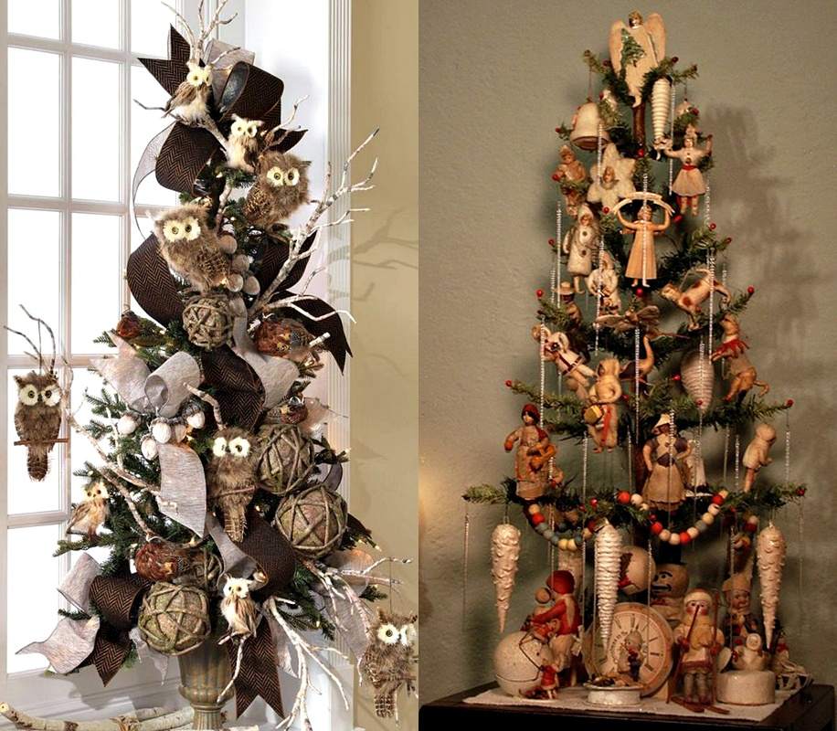 Small+Christmas+tree+vintage+Christmas++decorations%252C+owls