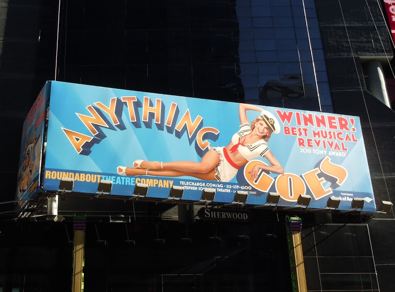 Anything Goes musical billboard