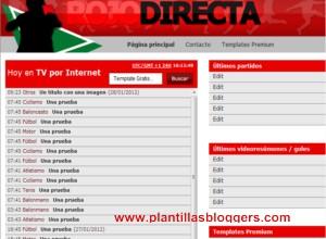plantilla para blogger rojadirecta