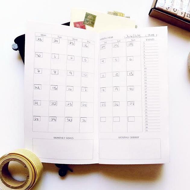 Traveler S Notebook Calendar Inserts : Diy midori traveler s notebook inserts seaweed kisses