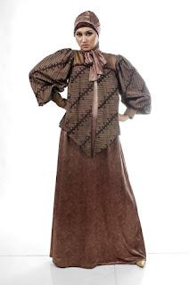 Model Gaun Muslim Batik