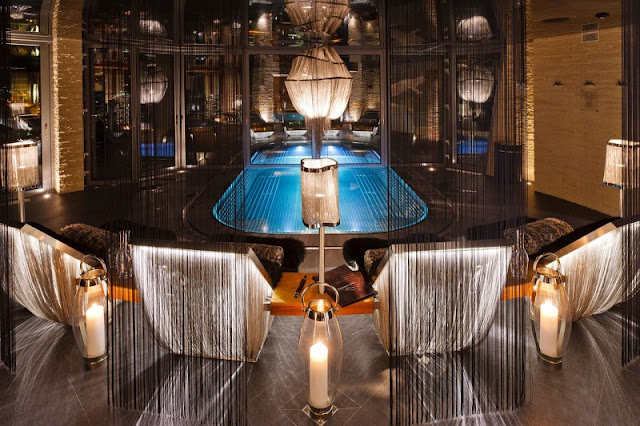 Picture of luxury swimming pool room