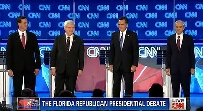Republican (GOP) Debate Florida FULL CNN DEBATE VIDEO 01/26/12