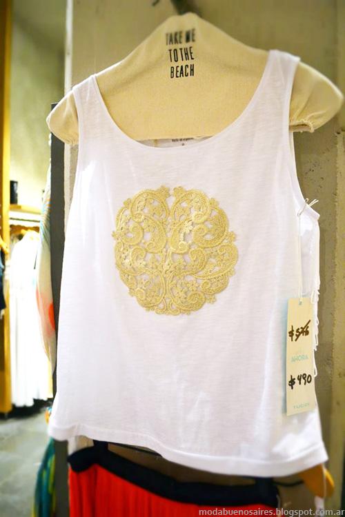 Musculosas, remeras y blusas moda 2014 Tucci.