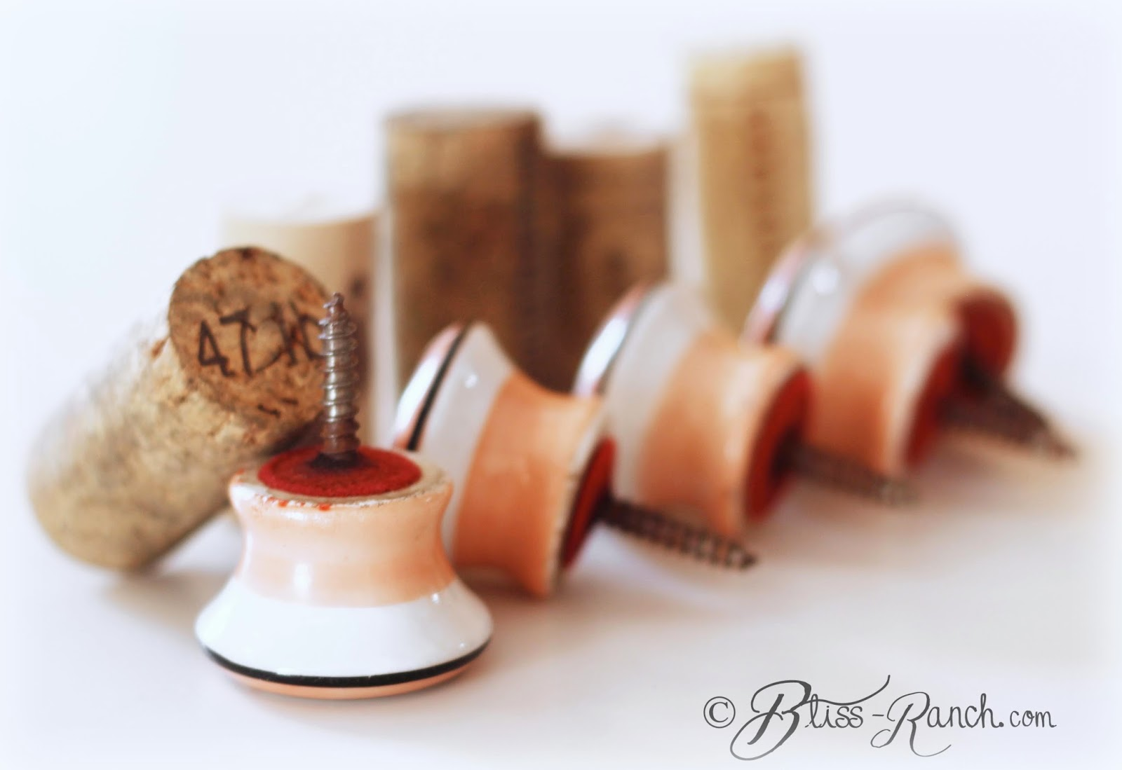 Vintage Pump Organ Knobs Turned Wine Stoppers Bliss-Ranch
