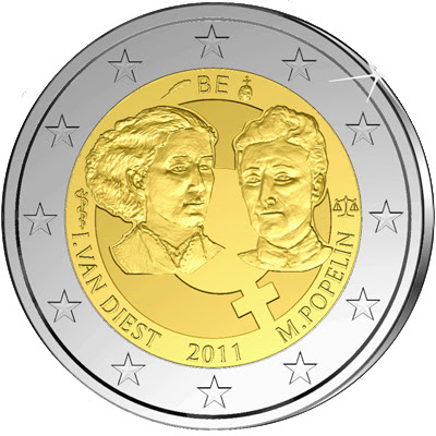 Belgium: The coin commemorates the 100th anniversary of International Women's Day