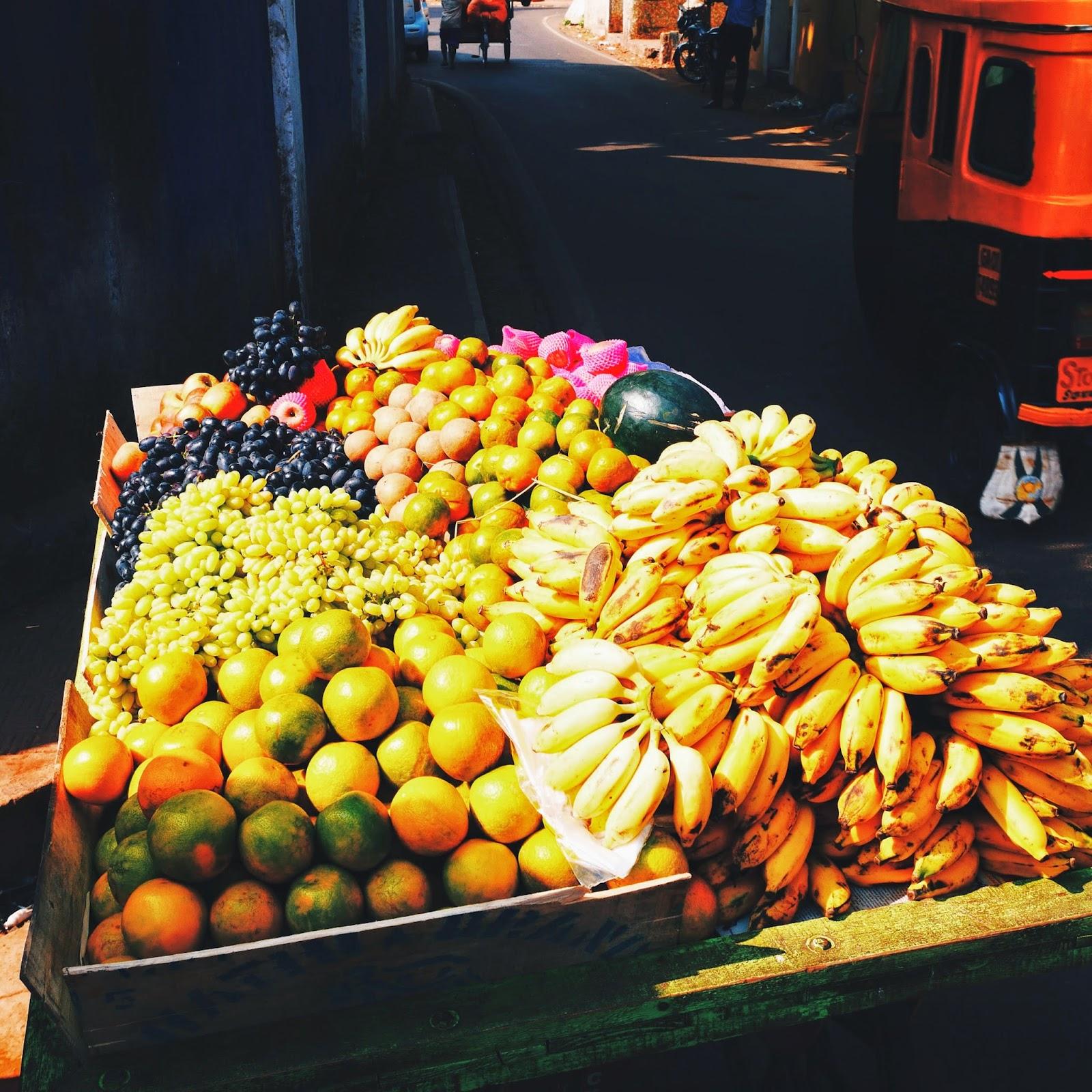 Street side fruits, Panjim