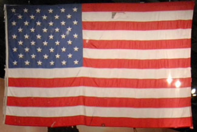 flag conservator, textile conservation, september 11th flag display.
