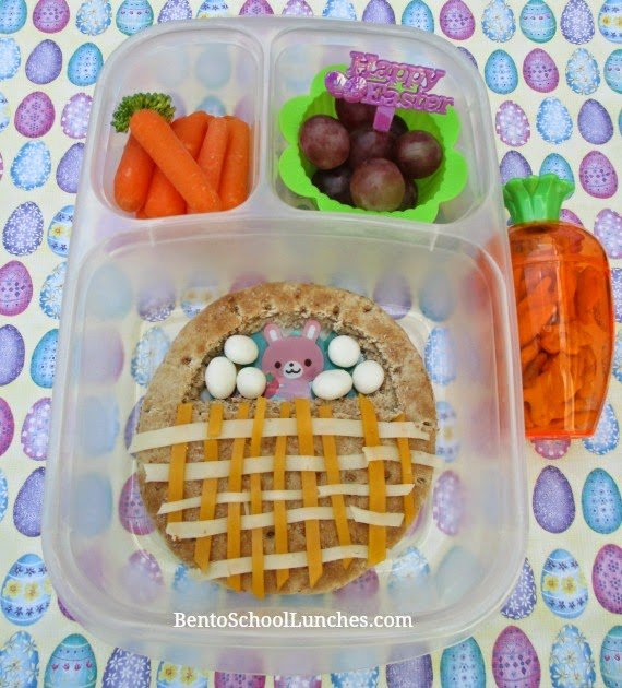 Easter basket, bento school lunch
