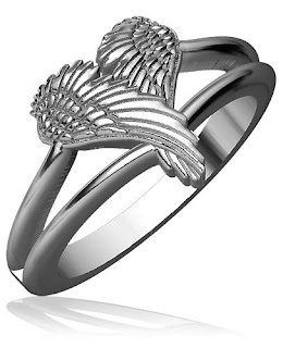 Angel Heart Wings Ring