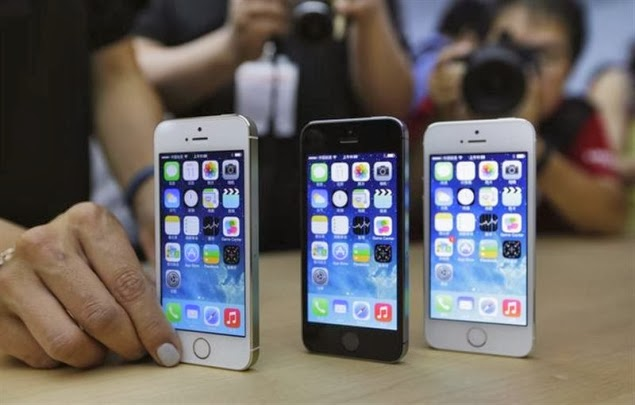 Apple aumenta produção do iPhone 5s