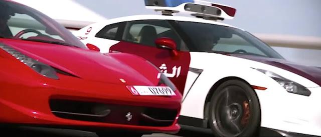 フェラーリとカーチェイス!アブダビ警察のプロモーションビデオが映画並みのスケールに!