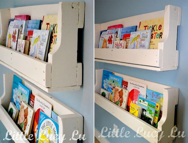 Paletes de madeira reciclado viram estantes para livros infantis