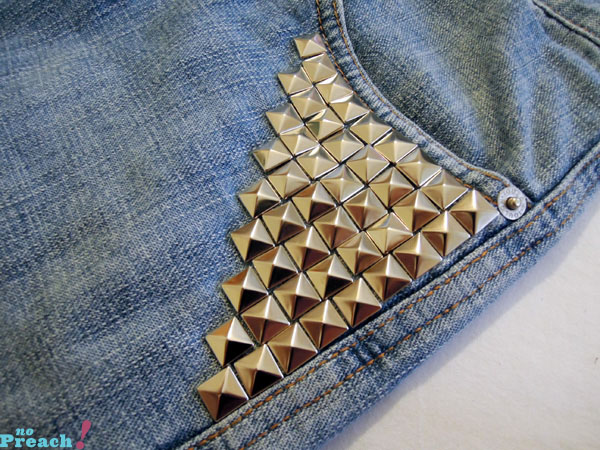 DIY: Short jeans com spikes