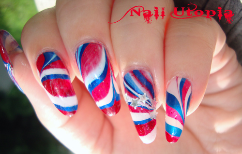 4th of july water marble