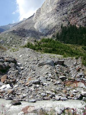 landslide near Randa Valais