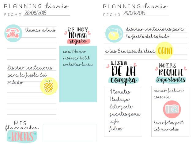 Planning Diario Para Imprimir | Calendar Template 2016
