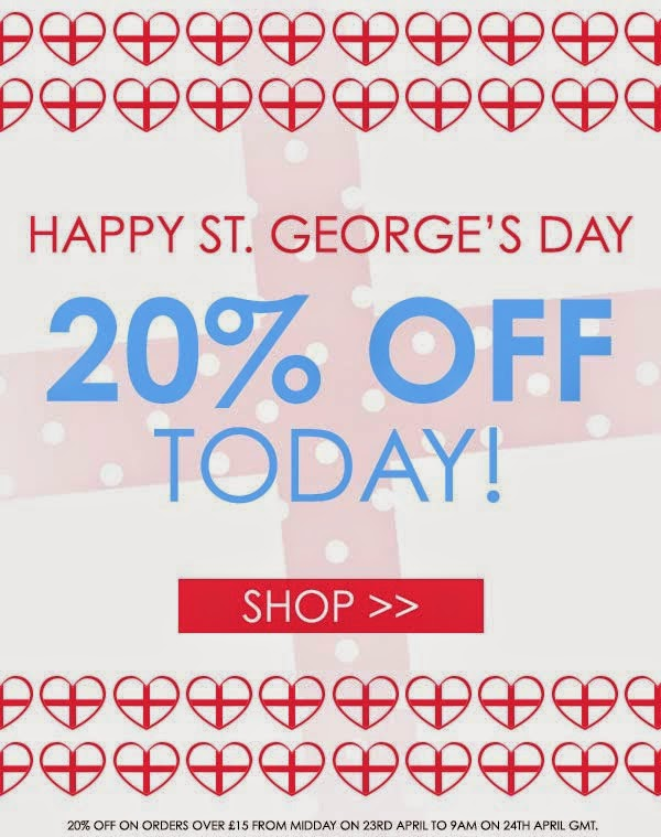 MUA - 20% di sconto per St. George's Day 2014