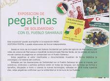 FOLLETO EXPOSICION DE PEGATINAS DE SOLIDARIDAD CON EL PUEBLO SAHARAUI