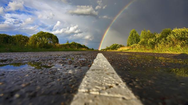 Road Rainbow HD Wallpaper