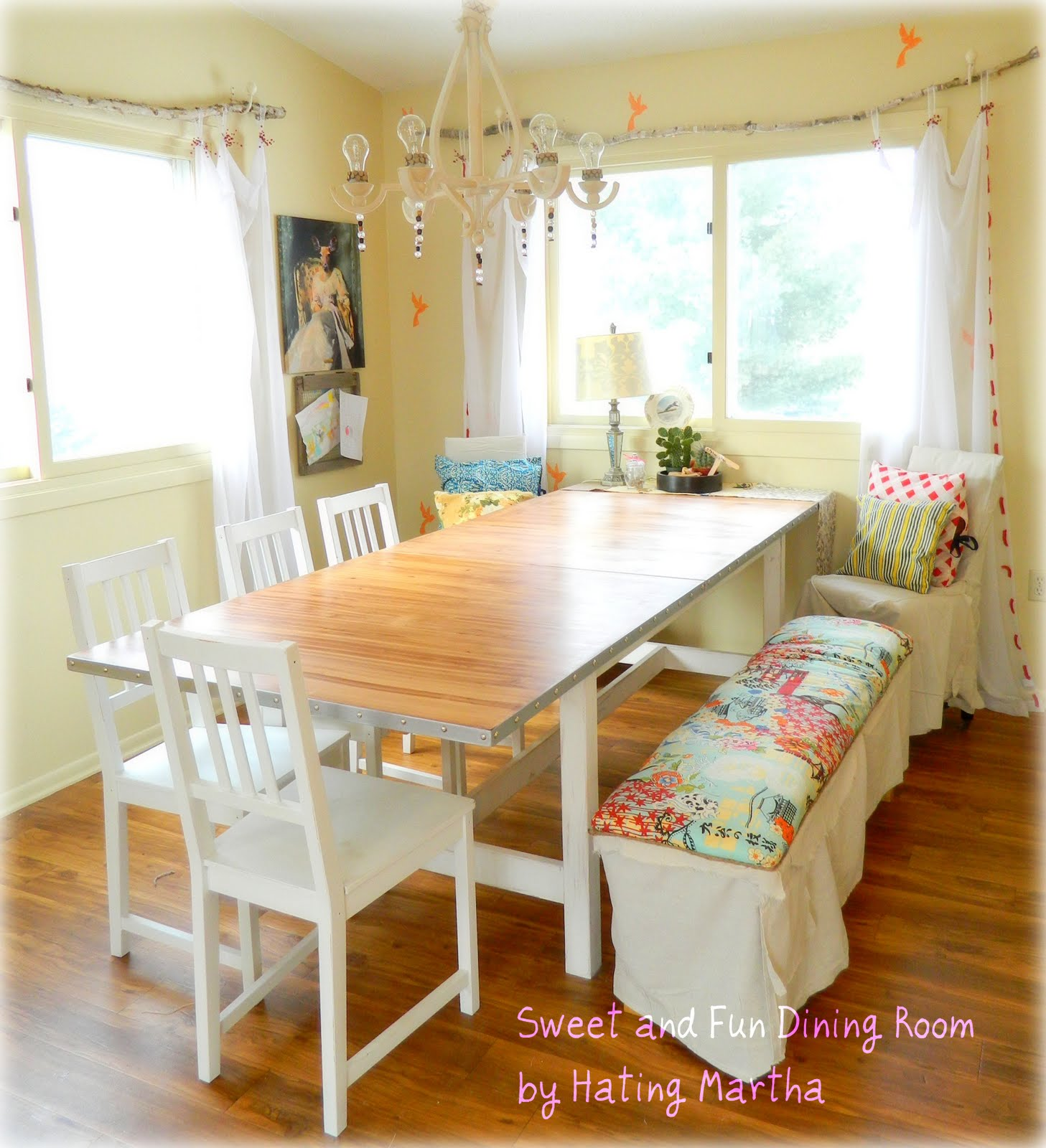 Fabulous simple IKEA table update that takes a boring IKEA table and transforms it into a charming