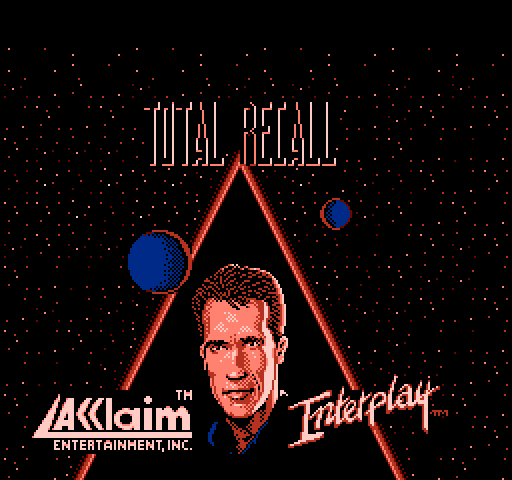 Total Recall Nintendo NES game title screen