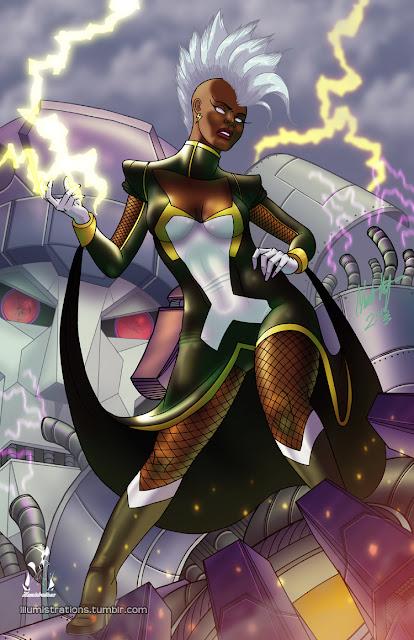 super heroes black heroes african Storm Ororoe Munroe X-Men xmen X-force Xforce Marvel comics fanart