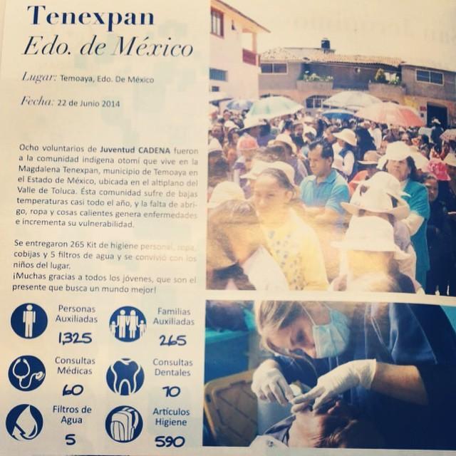 Acción Social. Cadena. Tenexpan. Edo de México.