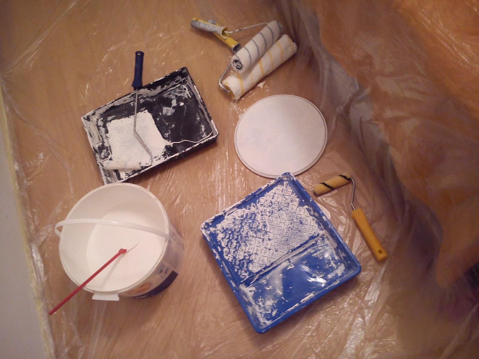 przyrządy do malowania wałki farba