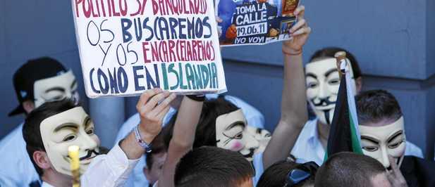 Los Indignados acabados Madrid no os quiere