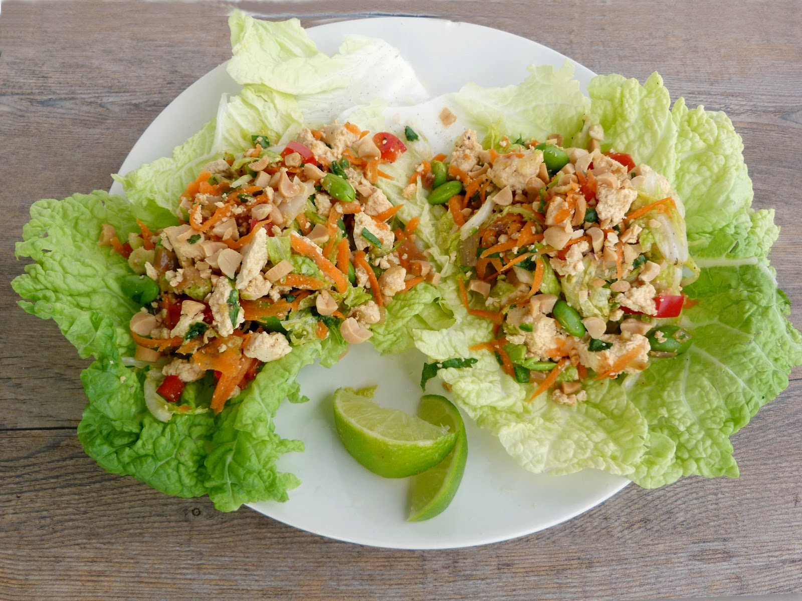 Vanilla & Spice: Laotian Tofu Larb Lettuce Wraps