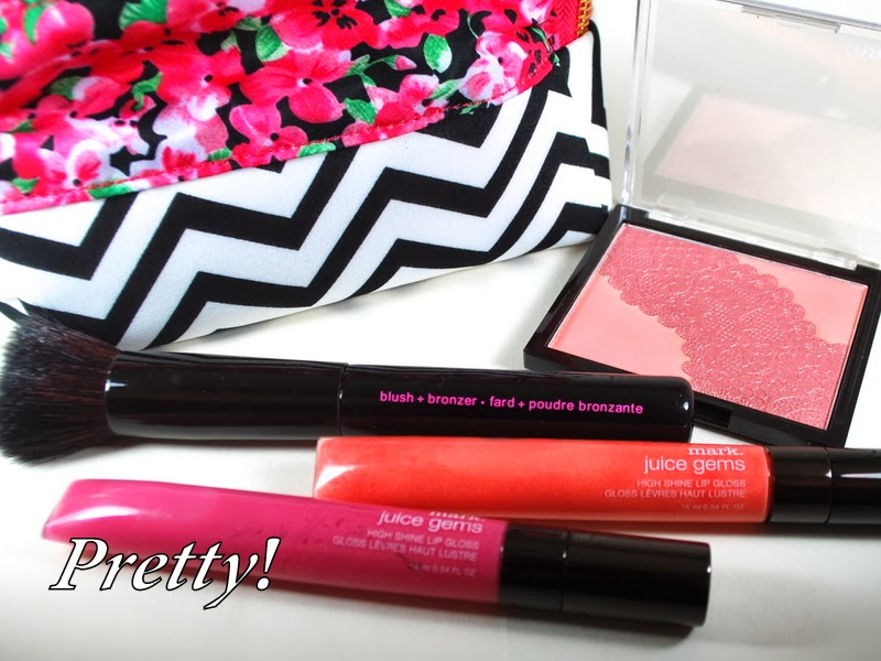 Valentine's Day Gift Ideas, Gift Ideas, Beauty Gift Guide, Valentine's Makeup, mark makeup, mark powder blush, makeup bag