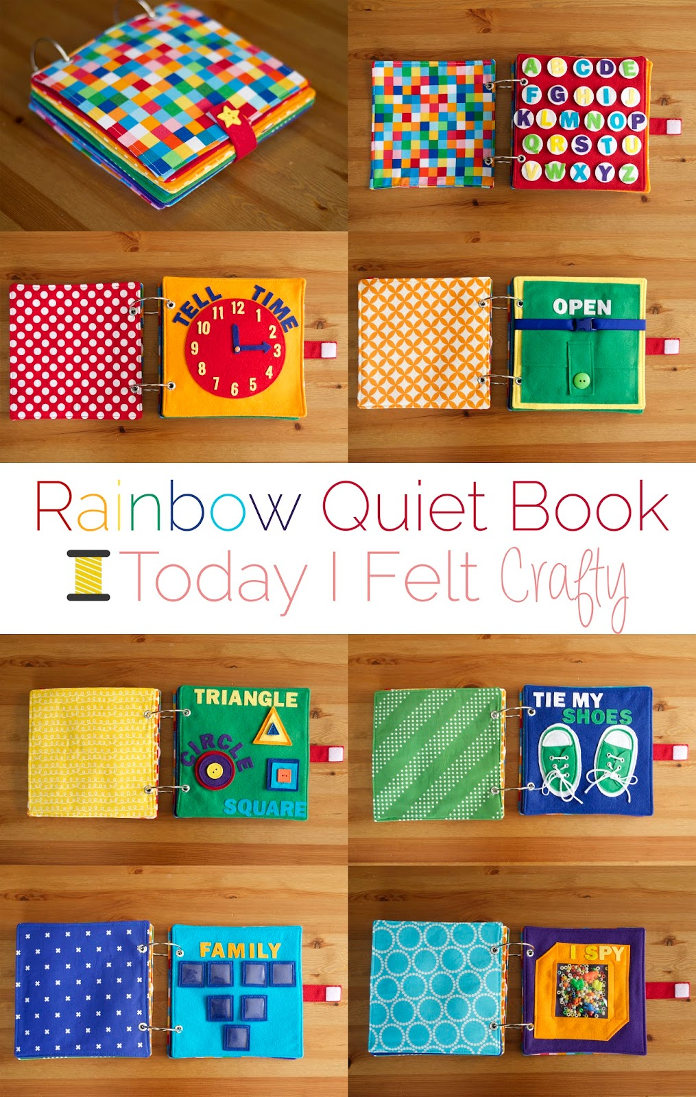 Rainbow Book Cover Diy ~ Rainbow quiet book