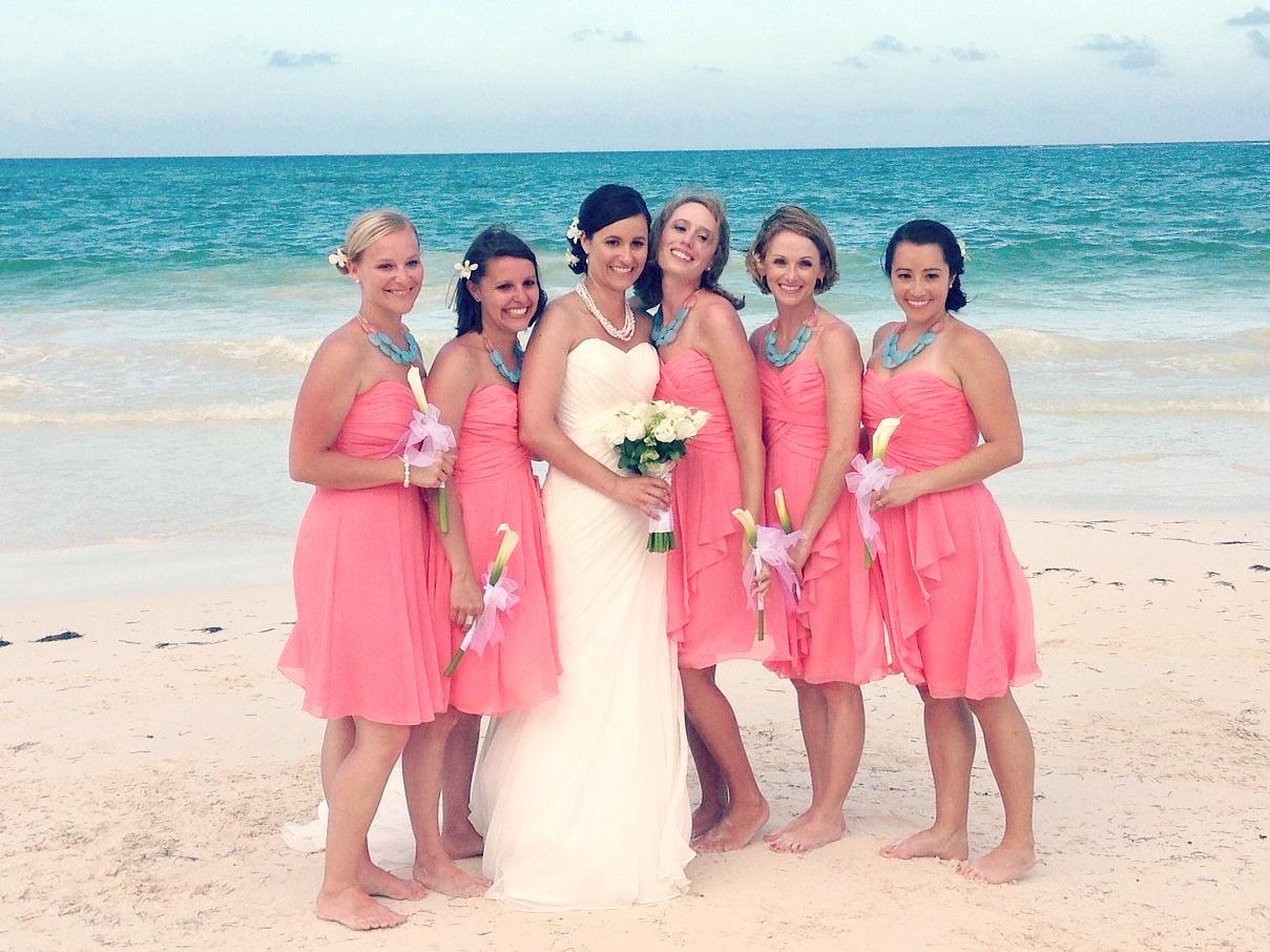 That s Mine Boutique Coral Turquoise Aqua wedding