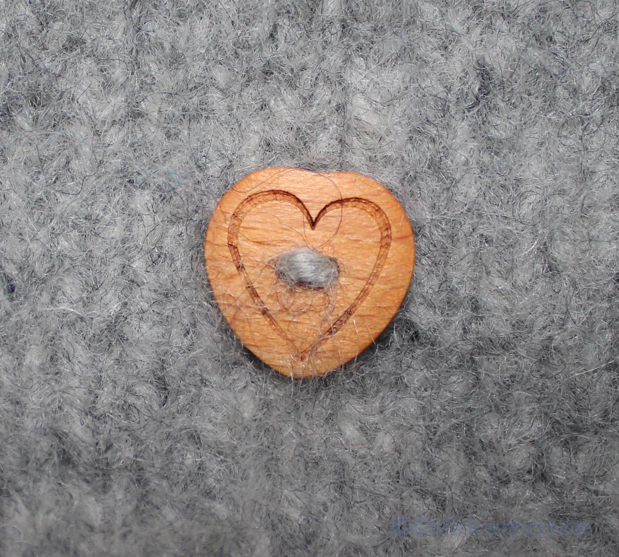 Hjerteknapp i tre
