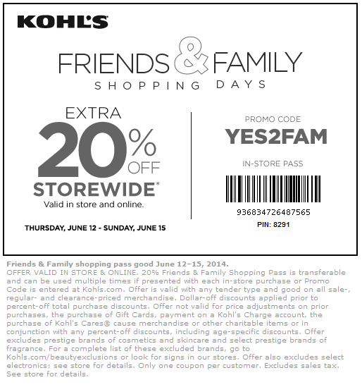 Kohls discount coupon code
