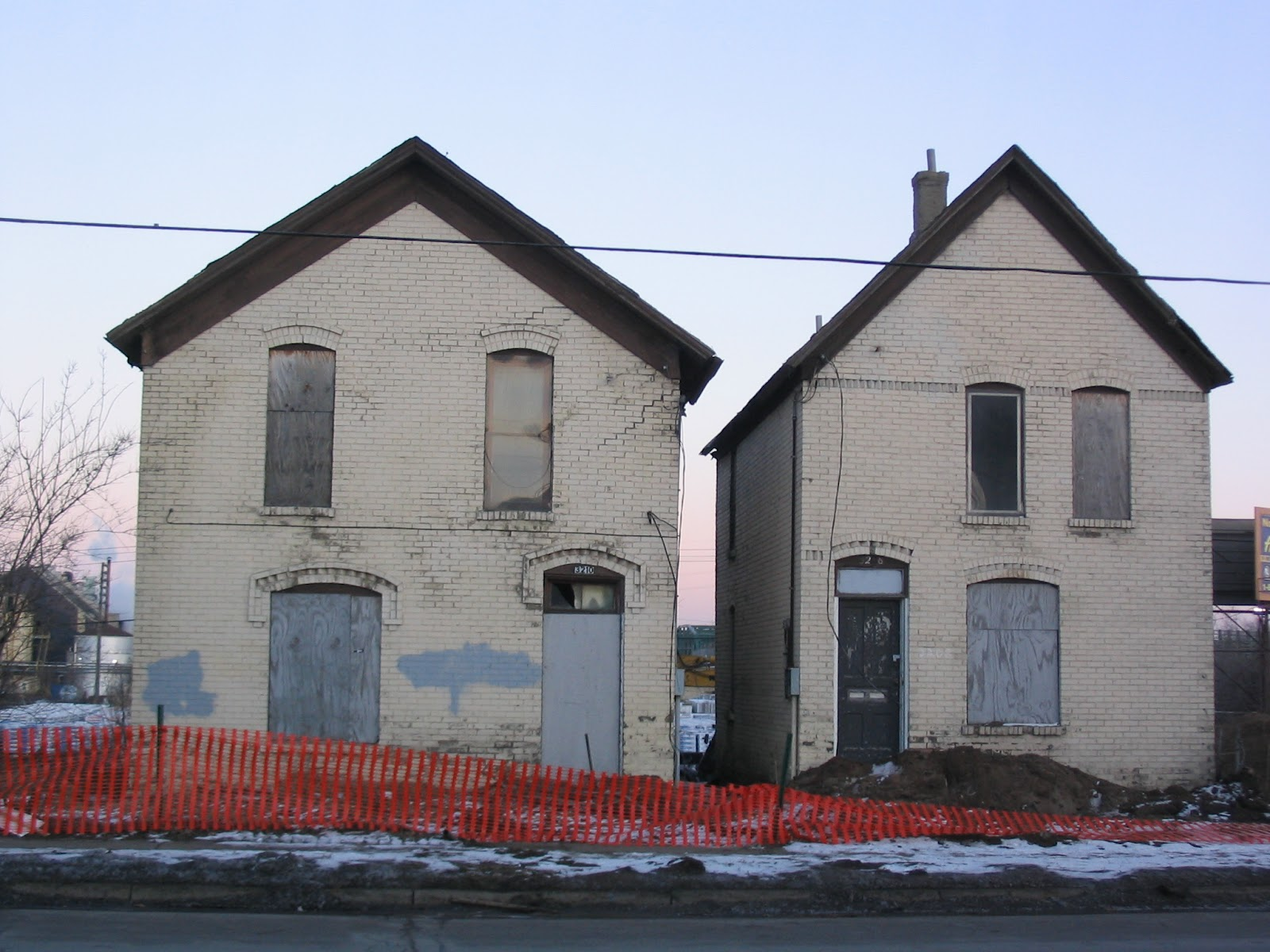 Abandoned Mn Old Brick Houses North Minneapolis Jan 2006