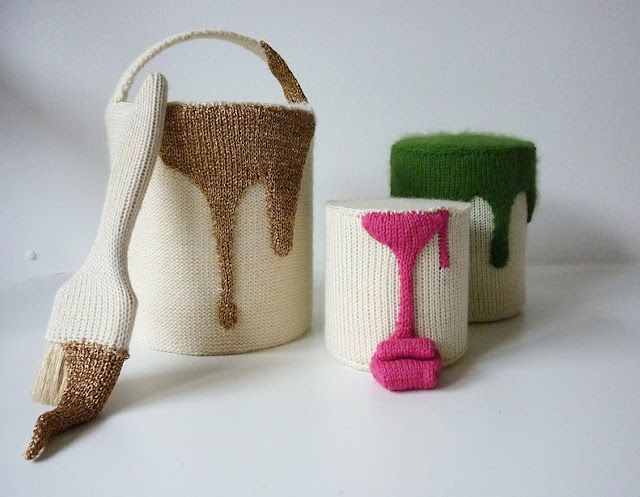Camille Dupuis knitted paint pots