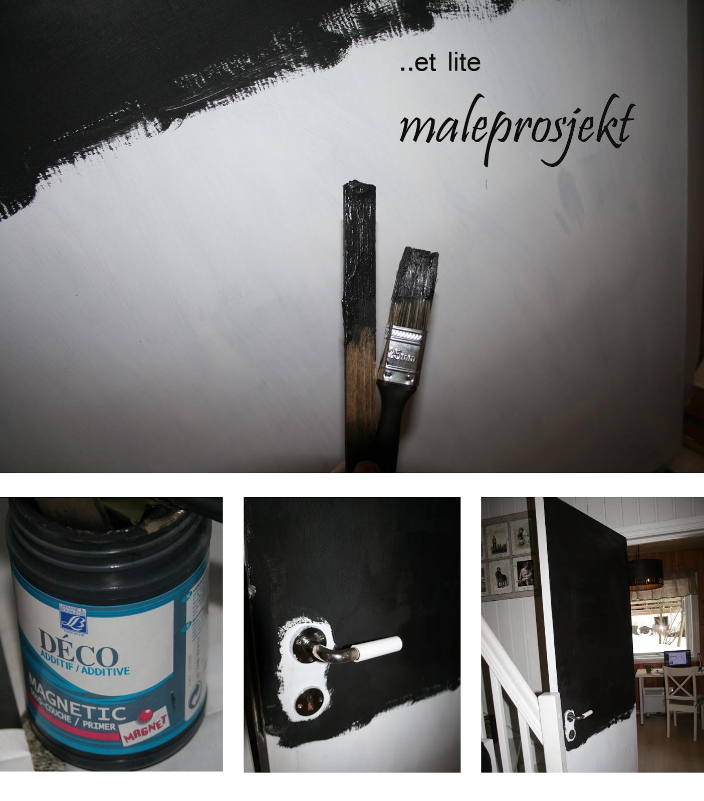 Bentes interiør og oppussing: Magnet- og kritt tavle (dør)