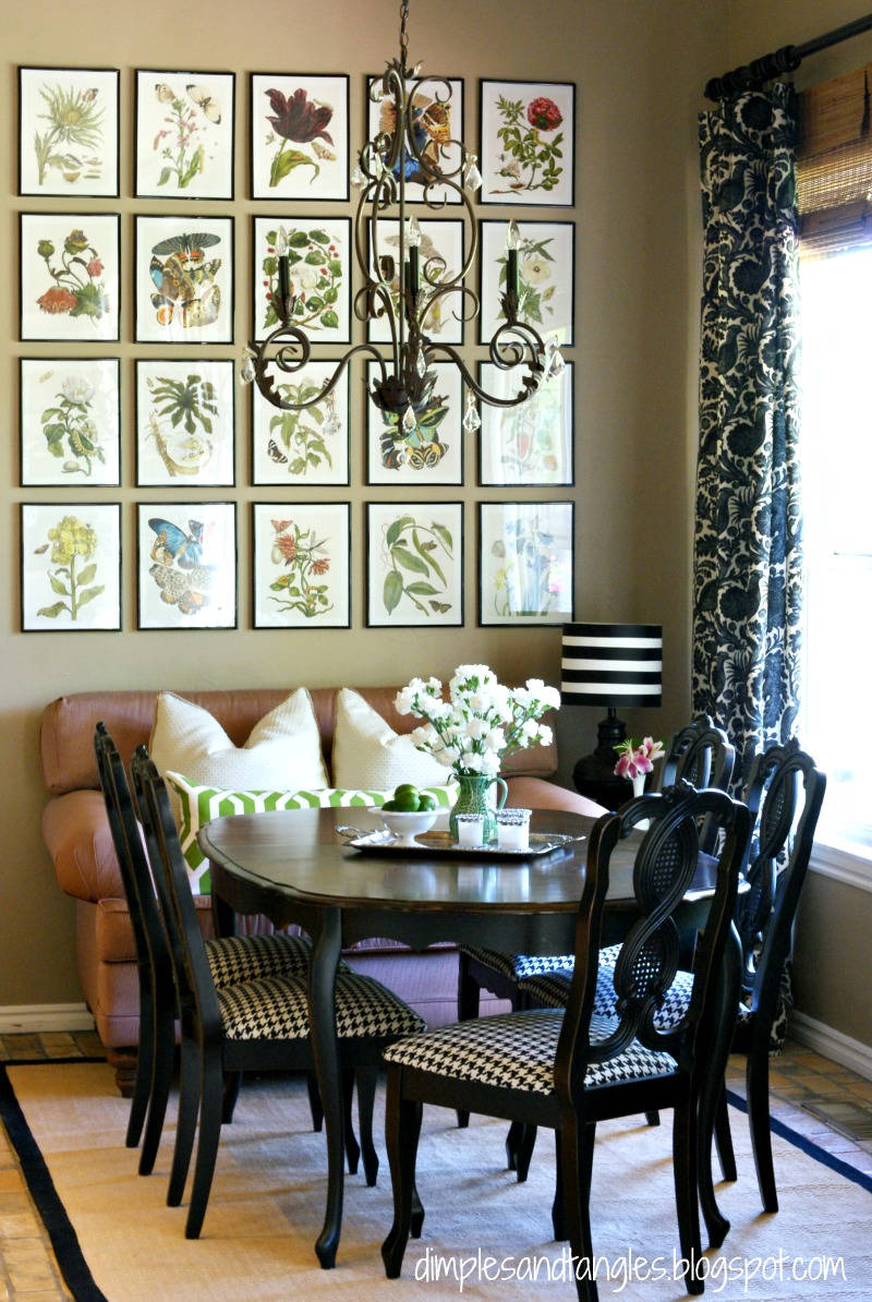 Breakfast nook update way back wednesday dimples and for Dining room posters
