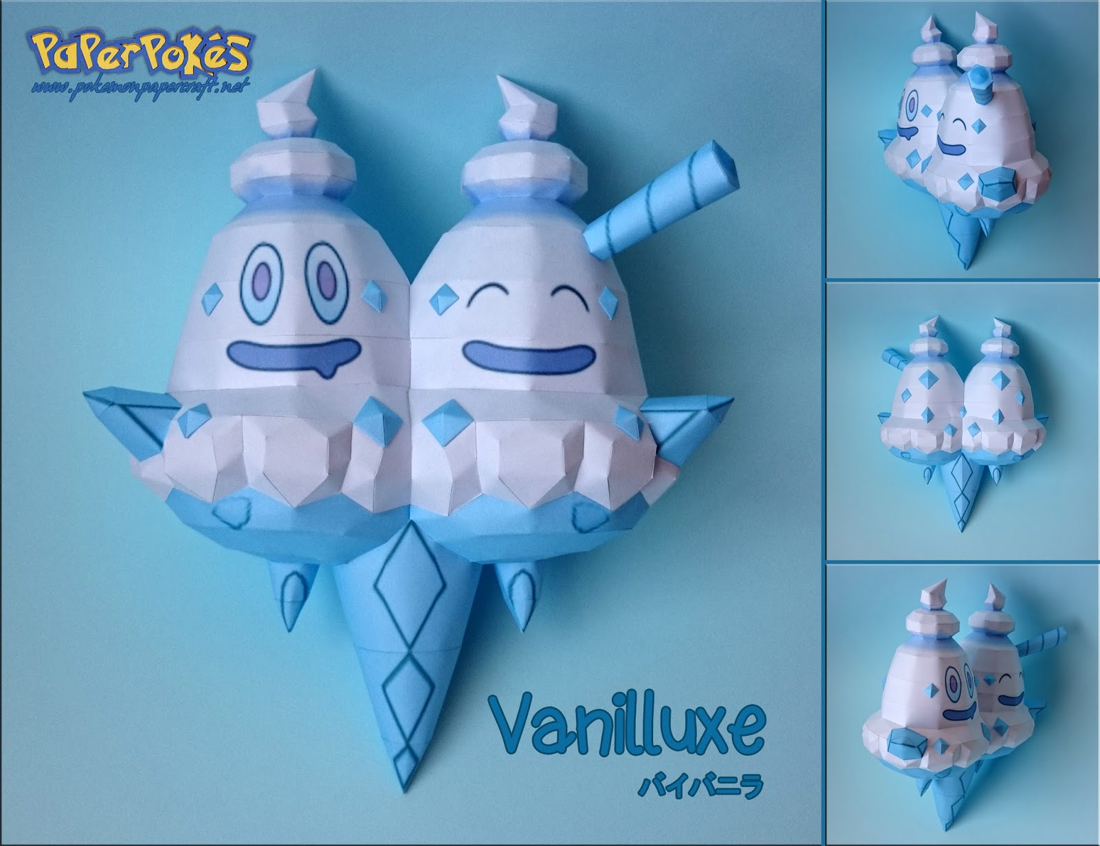 Pokemon Vanilluxe Papercraft