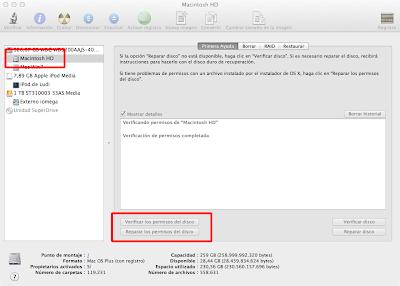 Utilidad de discos Mac OS X