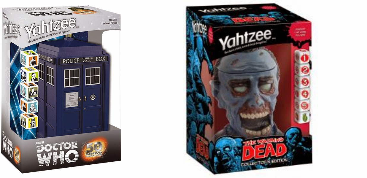 Enter the Doctor Who and The Walking Dead Yahtzee Game Giveaway. Ends 1/3