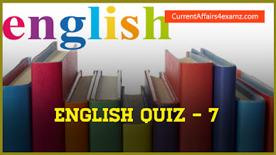 English Quiz for Railway Exams 2016