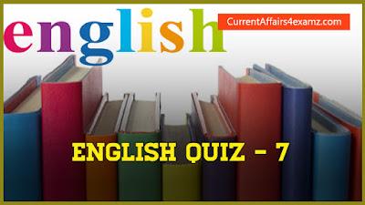English Quiz for Railway Exams 2016