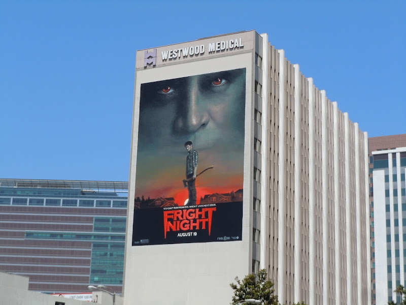 Giant Fright Night movie billboard